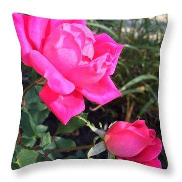 Rose Duet Throw Pillow