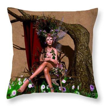 Rose Fae Throw Pillow
