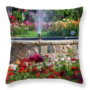 Rose Fountain Throw Pillow