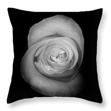 Rose From The Shadows Throw Pillow