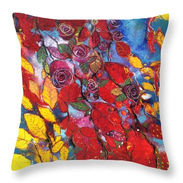 Rose Garden Throw Pillow by Alessandro Andreuccetti