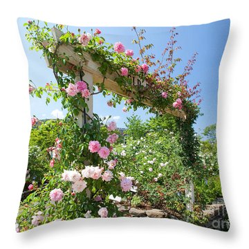 Rose Gate Throw Pillow by Aiolos Greek Collections