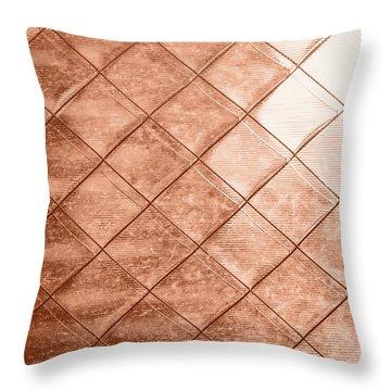 Rose Gold Crush Throw Pillow