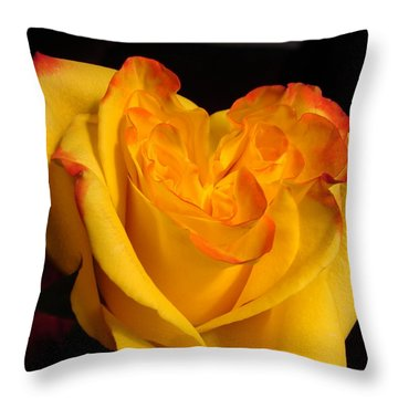 Throw Pillow featuring the photograph Rose Heart by Margaret Bobb