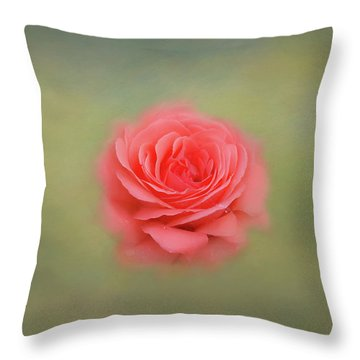 Throw Pillow featuring the photograph Rose Impressions by Kim Hojnacki