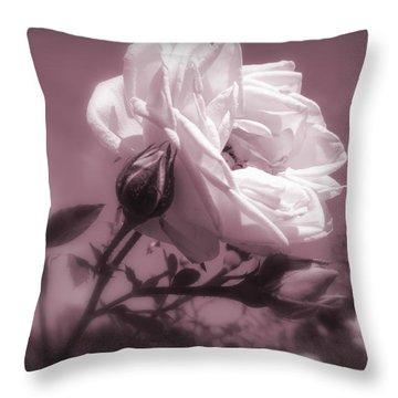 Rose In Rose Throw Pillow
