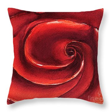 Throw Pillow featuring the painting Rose In Stone by Allison Ashton