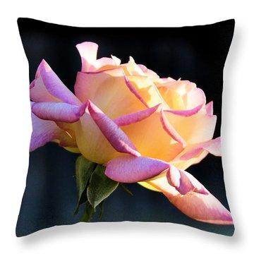 Rose In Sunshine Throw Pillow