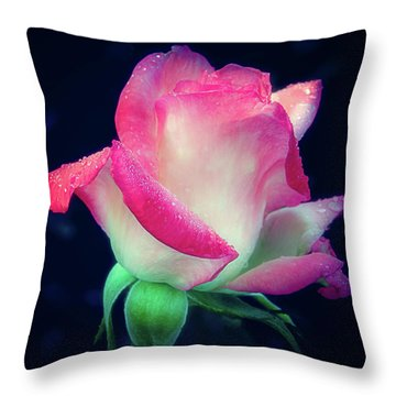 Throw Pillow featuring the photograph Rose Jacnepal Gemini by Julie Palencia