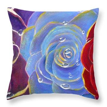 Rose Medley Throw Pillow