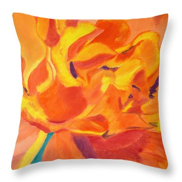 Heart Of A Rose Throw Pillow by Meryl Goudey