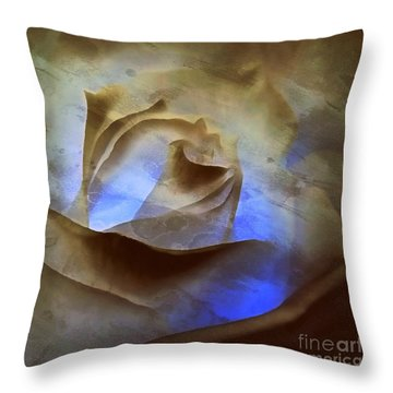 Throw Pillow featuring the photograph Rose - Night Visions  by Janine Riley