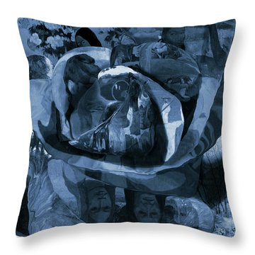 Rose No 1 Throw Pillow by David Bridburg
