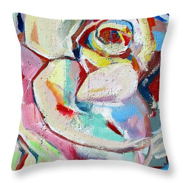 Throw Pillow featuring the photograph Rose Number 1 by John Jr Gholson
