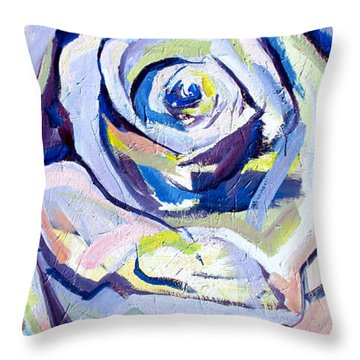 Throw Pillow featuring the painting Rose Number 2 by John Jr Gholson