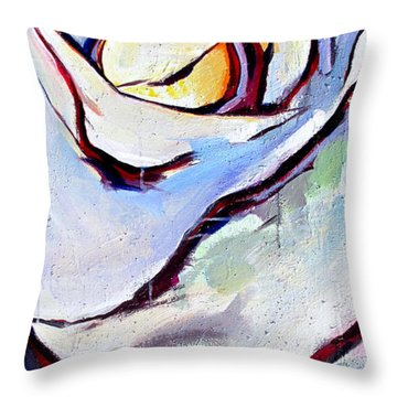Throw Pillow featuring the painting Rose Number 3 by John Jr Gholson
