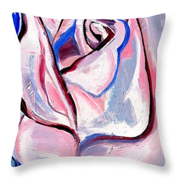 Rose Number 5 Throw Pillow
