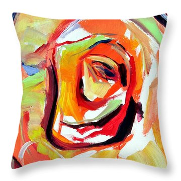 Throw Pillow featuring the painting Rose Number 6 by John Jr Gholson