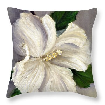 Rose Of Sharon Diana Throw Pillow by Randy Burns