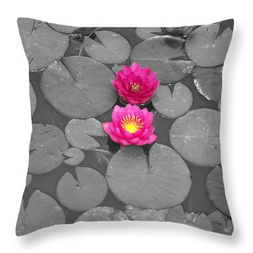 Rose Of The Water Throw Pillow