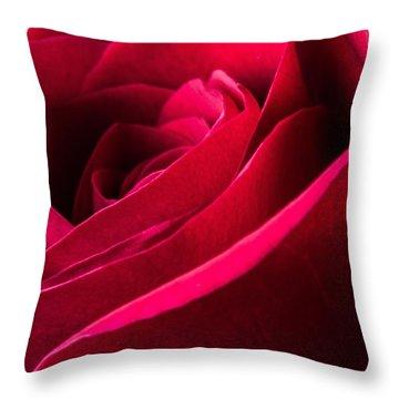 Rose Of Velvet Throw Pillow