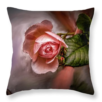 Rose On Paint #g5 Throw Pillow