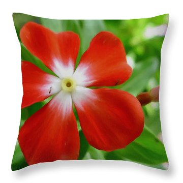 Rose Periwinkle Throw Pillow by Lanjee Chee