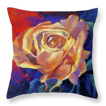 Rose Throw Pillow by Rae Andrews