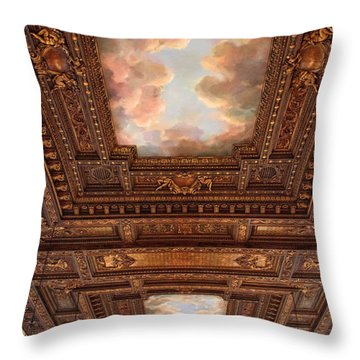 Throw Pillow featuring the photograph Rose Reading Room Ceiling by Jessica Jenney