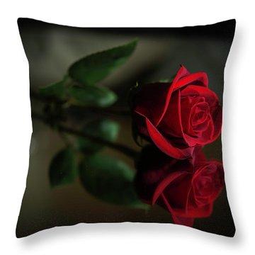 Rose Reflected Throw Pillow