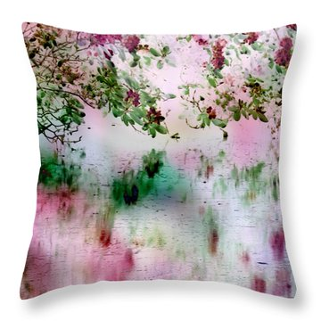 Rose Reflections Throw Pillow