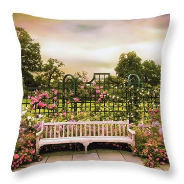 Throw Pillow featuring the photograph Rose Respite by Jessica Jenney