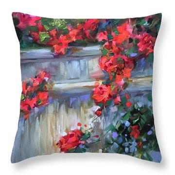 Rose Retreat Throw Pillow