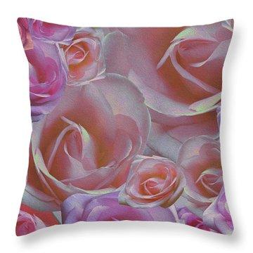 Rose Riot Throw Pillow