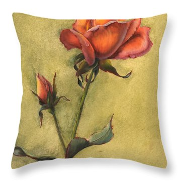 Rose Throw Pillow by Sherry Shipley