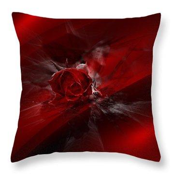 Rose Silk Throw Pillow