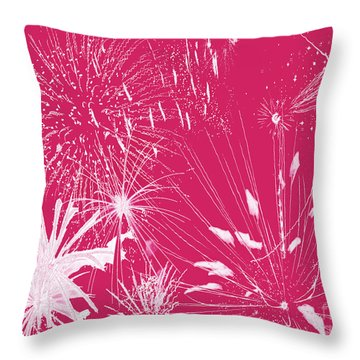 Throw Pillow featuring the digital art Rose Splash by Methune Hively