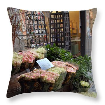 Rose Stand Throw Pillow