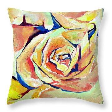 Throw Pillow featuring the painting Rose Sun by John Jr Gholson