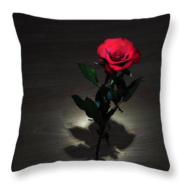 Rose Throw Pillow by Svetlana Sewell