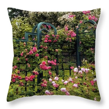 Rose Trellis Throw Pillow