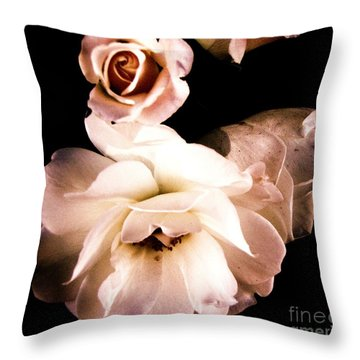 Throw Pillow featuring the photograph Rose by Vanessa Palomino