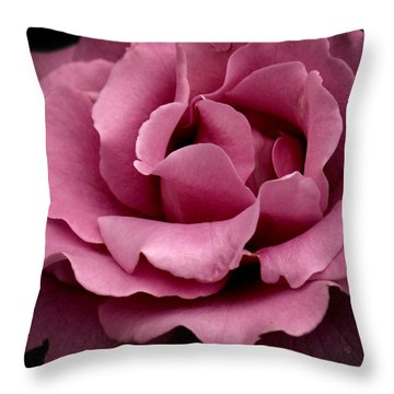 Rose Violet Waves Throw Pillow