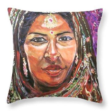 Roseanne Kala - True Colors Throw Pillow by Belinda Low