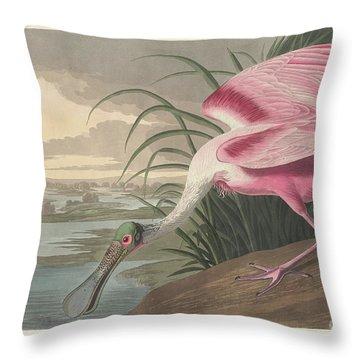 Roseate Spoonbill, 1836  Throw Pillow