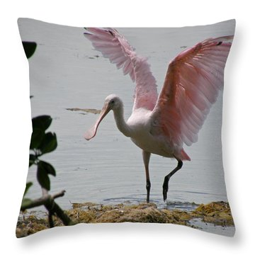 Roseate Wave Throw Pillow