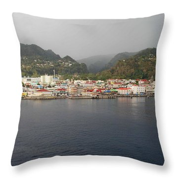 Roseau Dominica Throw Pillow