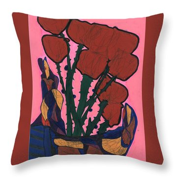 Rosebed Throw Pillow