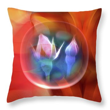 Rosebowl Throw Pillow