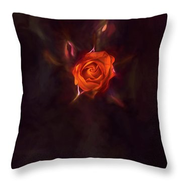 Rosebud Throw Pillow by Billie-Jo Miller